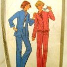 Vintage 1970's Simplicity Sewing Pattern 8200 Jacket Pants 2 Styles Size 14 UNCUT