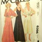 Vintage 1970's McCalls Sewing Pattern 6396 Long Short Slip Dress Cover Up Jacket Size 8 UNCUT