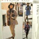 1990's McCalls Easy Sewing Pattern 7779 Jacket Skirt Pants Plus Size FW 18 20 22 UNCUT