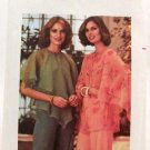 Vintage 1970's Butterick Sewing Pattern 5341 Mod BoHo Blouse Size Small 8 - 10 UNCUT