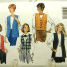 Vintage 1990's Butterick Sewing Pattern 4307 Fast & Easy Vest 4 Styles Size X Small - Medium UNCUT