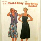 Vintage 1970's Quick Butterick Sewing Pattern 6521 Jacket Dress Belt Size 6 - 8 UNCUT