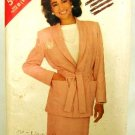 Vintage 1980's Butterick See & Sew Sewing Pattern 5438 Jacket Belt Skirt Size B 14 16 18 UNCUT