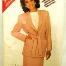 Vintage 1980's Butterick See & Sew Sewing Pattern 5438 Jacket Belt Skirt Size B 14 16 18 UNCUT