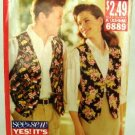 Vintage 1990's Butterick See & Sew Sewing Pattern 6889 Unisex Vest Size A X-Small - Medium UNCUT