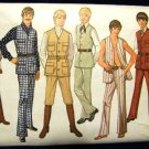 Vintage 1970's Simplicity Sewing Pattern 9087 Teen Boys Vest Pants Size 20 CUT