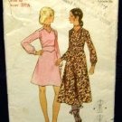 1970's Butterick Sewing Pattern 5992 Long Sleeve Dress in 2 styles Size 8 CUT