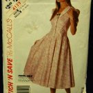 1980's Vintage McCalls Sewing Pattern 4152 Petite Button Front Dress Size B 12 - 14 - 16 CUT