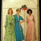 Vintage 70's Simplicity Sewing Pattern 8274 Long or Short Tie Robe Housecoat Size Medium 14 - 16 CUT