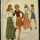 Vintage 1970's Simplicity Sewing Pattern 5199 Long or Short Skirt 4 styles Size 16 CUT