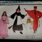 70's McCalls Costume Sewing Pattern 5238 Princess Witch Devil Angel Girls or Boys Size Medium CUT