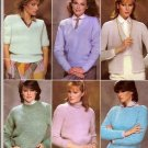 Bernat Knitting Pattern Booklet 512 Modern Classics Knit Sweater in 7 Basic Styles Cardigan A1006