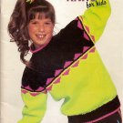 Patons Knitting Pattern Booklet 644 Neon Knits for Kids Sweater Sweaters for Boys or Girls A1010