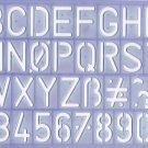 "Helix Lettering Guide Letter Stencil Standard, Upper Case, 1 1/4"" 30mm Letters"