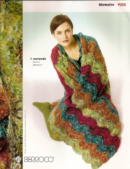 Berroco Knitting Pattern Booklet #252 Afghan Long Short Bolero Jacket Vest Cardigan Hat Warmer A1028
