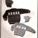 Yankee Knitter Designs Knitting Pattern Leaflet #11 Childs Bunny Pullover Cardigan or Hat A1031