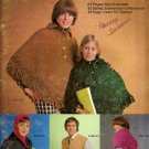 Bernat Book of Complete Knitting #221 Poncho Cape Hat Sweater Slippers Scarves A1033