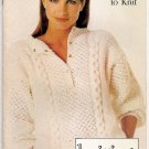 Simplicity Knitting with Style Pattern Booklet #0441 Mens or Womans Sweater and Vest A1036