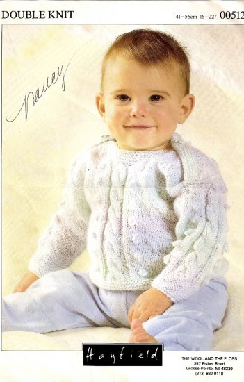 Hayfield Knitting Pattern Leaflet #00512 Infant Baby Pullover Sweater  A1045