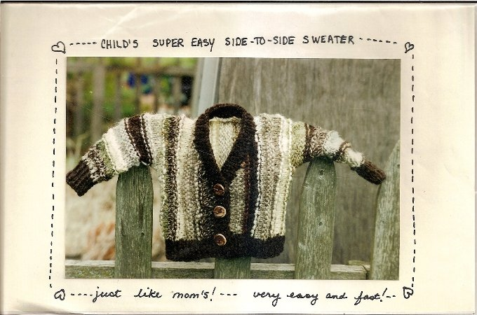 Coy's Country Crafts Knitting Pattern Leaflet Super Easy to Knit Child's Side to Side Sweater A1057