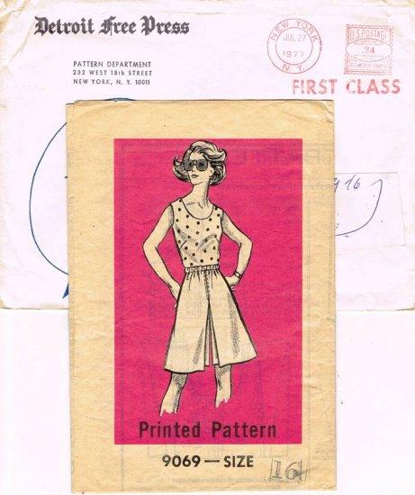 Vintage 70's Mail Order Sewing Pattern Detroit Free Press 9069 Tank Top Blouse Culotte Size 16 CUT