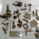 Vintage Greist Sewing Machine Attachments Assorted Binder Hemmer Ruffler Foot 26 pcs total #110