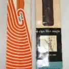 2 Vintage Zippers Zipper Talon and Spun Dee Dress or Neckline 14 inch Brown Orange #116