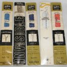 5 Vintage Zippers Zipper Talon 20 inch Neckline Assorted Colors #119