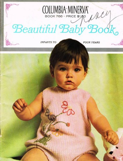 1967 Knitting Pattern Beautiful Baby Book #766 Infants - 4 years Knit Bunting Hat Afghan Socks A1004