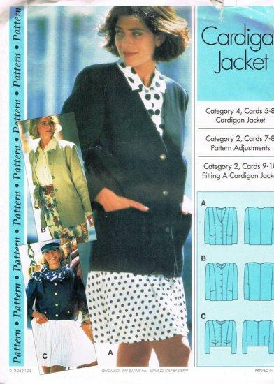 Sewing Step by Step Pattern Cardigan Jacket Petite Misses Plus All sizes 4 - 22 UNUSED