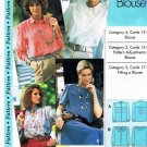 Sewing Step by Step Pattern Long Short Sleeve Blouse Petite Misses Plus All sizes 4 - 22 UNUSED