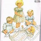 New Look Sewing Pattern 6336 Infant Baby Girls Christening Dress Romper Size 3 - 18 Months UNCUT