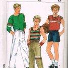 Simplicity Sewing Pattern 6927 Teen Boys Pull on Pants Shorts Shirt Tank Top Size 14 16 18 UNCUT