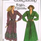 80's Simplicity Sewing Pattern 8221 Loose Fitting Flared Button Front Dress Size 10 - 16 UNCUT