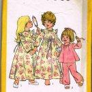 Vintage 70's Simplicity Sewing Pattern 6685 Toddler Girls Robe Nightgown PJ's Pajamas Size 3T  UNCUT