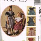 McCalls Kitty Benton Sewing Pattern 4569 Girls Fancy Short Long Dress Size 5 UNCUT