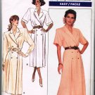 80's Butterick J G Hook Easy Sewing Pattern 5993 Coat Dress Long Short Sleeve Size 8 10 12 CUT