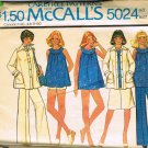McCalls Maternity Sewing Pattern 5024 Maternity Top Jacket Shorts Skirt Pants Panties Size 12 CUT