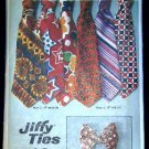 1970's Vintage Simplicity Sewing Pattern 9400 Jiffy Mens Neck or Bow Tie Ties 3 styles CUT
