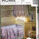 McCalls Craft Sewing Pattern 5795 Baby Room Crib Bumper Diaper Stacker Caddy Curtains Comforter CUT