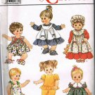 80's Simplicity Sewing Pattern 9434 Baby Doll Clothes Sundress Shoes Romper Panties 14 - 18 inch CUT
