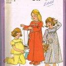 70's Simplicity Sewing Pattern 8170 Girls Button Robe Pajamas PJ's Nightgown Size Medium 3 - 4 CUT