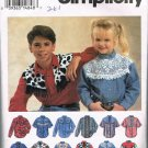 Simplicity Sewing Pattern 8753 Unisex Boys or Girls Western Shirt Blouse Size HH 3 4 5 6 CUT