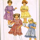 80's Simplicity Sewing Pattern 6772 Girls Dress Long Short Sleeve Ruffles Size 4 CUT