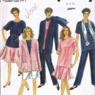 Simplicity Sewing Pattern 8184 Pants Shorts Skirt Tunic Jacket Scarf Plus Size 18 20 22 24 UNCUT
