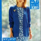 See and Sew Butterick Sewing Pattern 5301 Sleeveless Dress Jacket Plus Size 16 18 20 22 24 UNCUT