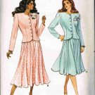 80's Butterick Fast and Easy Sewing Pattern 6924 Semi Fitted Top Flared Skirt Size 14 16 18 UNCUT