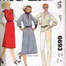 Vintage 1970's McCalls Sewing Pattern 6693 Pullover Jumper V-Neck Top Skirt Size 10 UNCUT