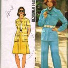 70's Simplicity DesignerSewing Pattern 5588 Shirt Jacket Skirt Pants Plus Size 18 UNCUT