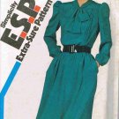 80's Vintage Simplicity ESP Sewing Pattern 6198 Pullover Dress Size 10 12 14 UNCUT